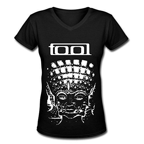 Alternative Rock Band Tool Fan Logo V Neck T Shirt For Women Black XL
