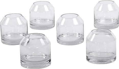 Amazon Com Koyal Wholesale Dome 3 Inch Clear Glass Bud Vases Bulk Set Of 6 Modern Mini Glass Jug Flower Vases Classic Farmhouse Jug Dome Vases Minimal Wedding Centerpieces Terrarriums Favors Home Office