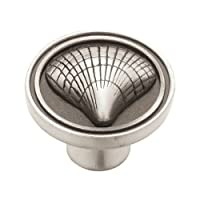 Liberty PBF658-BSP-C 35mm Cockle Shell Kitchen Cabinet Hardware Knob, Brushed Satin Pewter