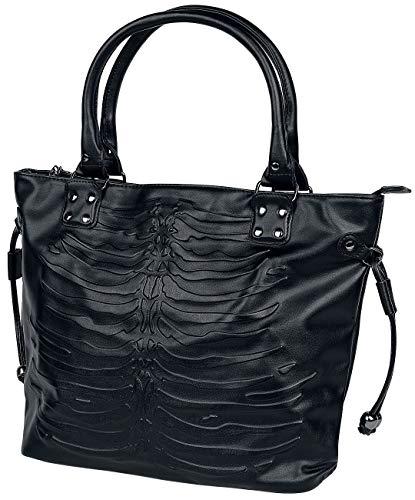 Lost Queen Women's Black Vespera Embossed Bag