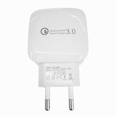 Lorenlli Universal Quick Charge QC 3.0 Adaptador de Cargador de ...