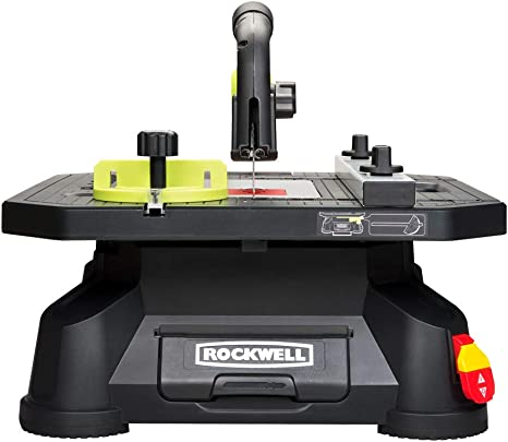Rockwell Bladerunner X2 Portable Tabletop Saw With Steel Rip Fence Miter Gauge And 7 Accessories Rk7323 Amazon Com