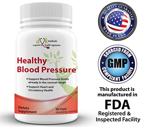 Healthy Blood Pressure Supplement from DVK Medicals- Advanced Blood Pressure Support for Heart health and Circulatory health. For Sale