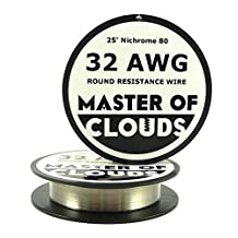 Nichrome 80 - 25 ft 32 Gauge AWG Resistance Wire 0.20mm 32g 25' by Master Of Clouds
