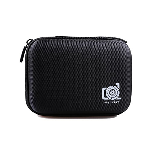 Lightdow Case Water Resistant Protective EVA Bag Storage Box for LD4000 LD6000 LD 4K Go Pro Hero 4 3 3+ 2 1 Sjcam Sj4000 Sj5000 Sj6000 Wifi (Small)