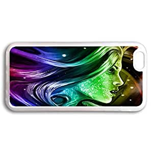 Case Cover For SamSung Galaxy Note 4 Transparent with Design of Colorful Rainbow Girl Wallpaper Pattern MOGeTV43fjF Rainbow Color Serie