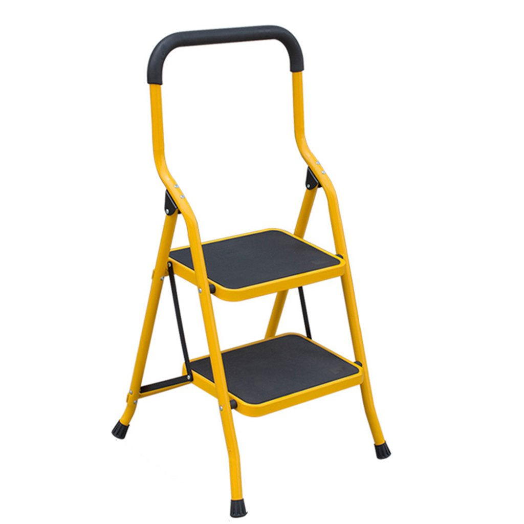A 3step LIYONG Ladder Household Folding Ladder Lift Ladder Thickened Pedal (color   A, Size   3step)