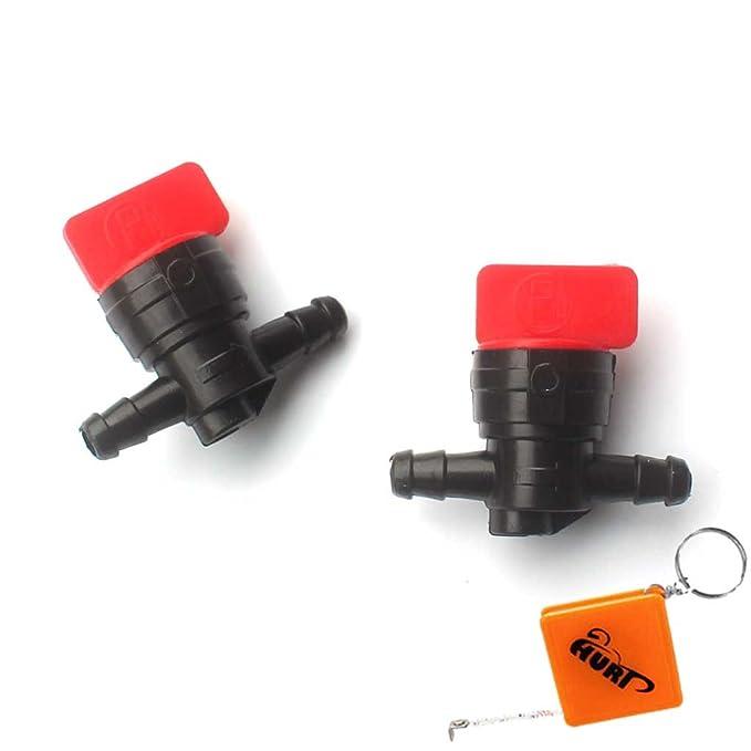 1 opinioni per huri 2X rubinetto rubinetto benzina carburante tra in plastica e/A 6,35mm