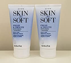 2 Avon Skin So Soft Fresh & Smooth Moisturizing Hair Removal Cream