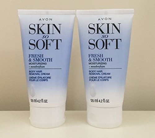 2 Avon SKIN SO SOFT Fresh & Smooth Moisturizing Hair Removal Cream