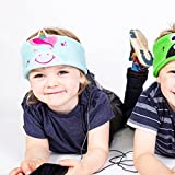 Snuggly Rascals Kids Headphones, Volume Limiting Over Ear Lightweight Toddler Headband Headphones for Children Boys or Girls suitable for iPhone, Smartphones or Tablets - Unicorn