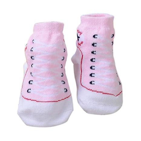 Scrox 1 Par Calcetines de bebé Recién Nacido 0-6 Zapatos Bebe niña Lindo 3D
