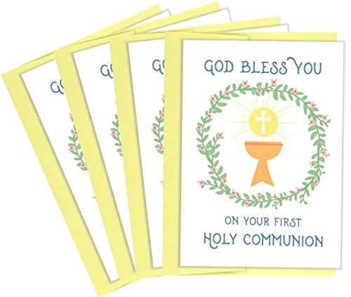 Tiny Expressions First Holy Communion Greeting Cards (4 (First Holy Communion Card)