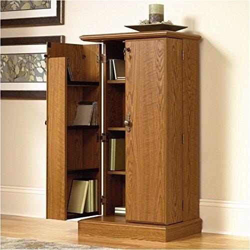 Sauder Orchard Hills Multimedia Storage Cabinet, Carolina Oak Finish