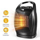 Space Heater-1500W Fast Heat Small Portable Ceramic Space Heater for Office Small Room Desk, Electric Space Heater with Multi Thermostat, Overheat & Tip-Over Protection, Energy Efficient Space Heater