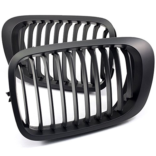 Price comparison product image NEVERLAND Gloss Black Kidney Grilles Grill For BMW E46 3 Series 2002-2005 4 Doors Sedan
