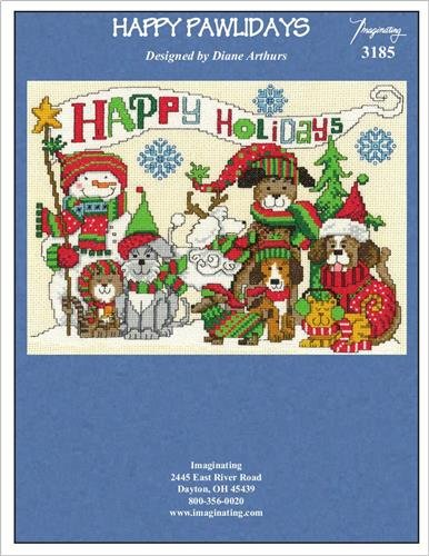 (Happy Pawlidays (Kit 3185) Cross Stitch Chart and Free)