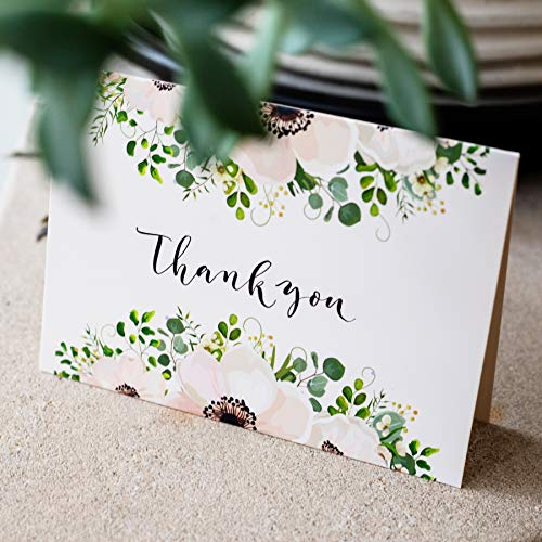 Thank You Cards: Vintage Floral Bulk Set of Blank Note Cards for Wedding, Bridal or Baby Shower, Teacher, Birthday Card, Business Notes and More - Assorted Pack with Envelopes and Cute Stickers Inside Photo #7