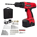 Cordless Drill Driver - Cordless Drill Set- 89 Piece Kit, 18-Volt Power Tool with Bits, Sockets, Drivers, Battery Charger with AC Adapter, and Carrying Case by Stalwart