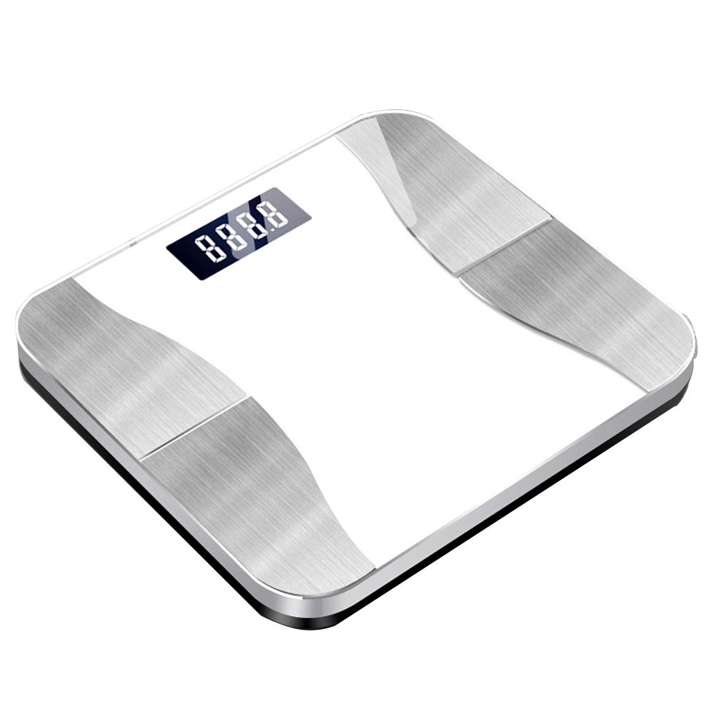 HJKKLL Body Fat Scale, USB Smart Digital Scale, High Precision Measurement, Smart APP for Fitness Tracking,White