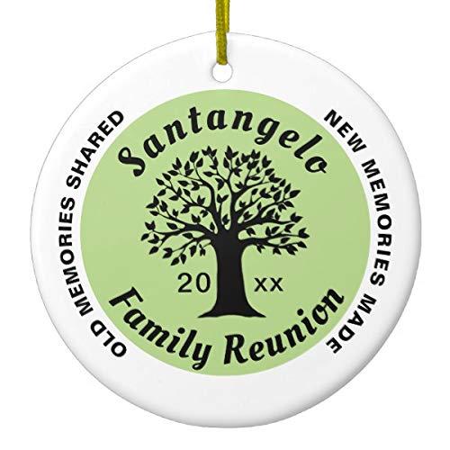 Lplpol 2018 Family Reunion Round Christmas Souvenir Gift Ceramic -
