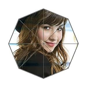Custom American Songwriter Demi Lovato Foldable Umbrella Fashion Design All Weather Umbrella