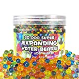 OIG Brands Water Beads for Kids 20,000 Pack - Growing Gel Balls for Home Decoration, Vase Fillers and Spa Non-Toxic