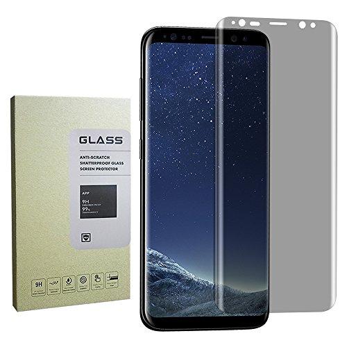 Peep For Galaxy S8 Plus Screen Protector Privacy Anti-Spy ,[Case-Friendly] Privacy Anti-Peep Tempered Glass Screen Protector Shield For Samsung Galaxy S8 Plus (Anti Privacy)(Black)