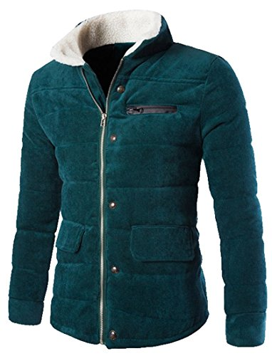 Coolred Men's Coat Casual Thick Zipper Basic Corduroy Par...