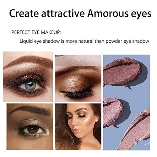 Brown Metallic Eyeshadow Stick,Waterproof Eye Shadow Pencil, Neutral Cream Shimmer Eyeshadow Pencil Hypoallergenic Eyeshadow, Waterproof & Long Lasting Starter Eyeshadow Stick Sets