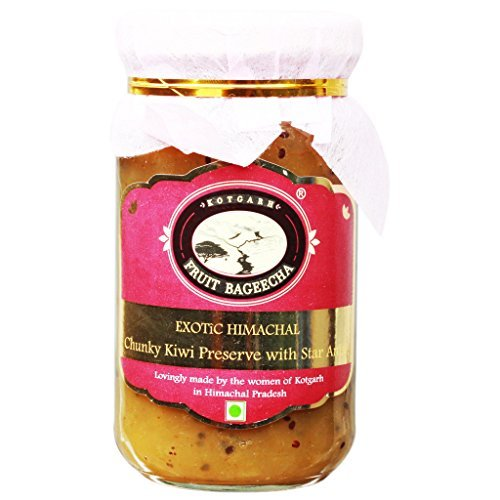 Kotgarh Fruit Bageecha 1 Exotic Himachal Chunky Kiwi Preserve With Star Anise, 225G by Kotgarh Fruit Bageecha
