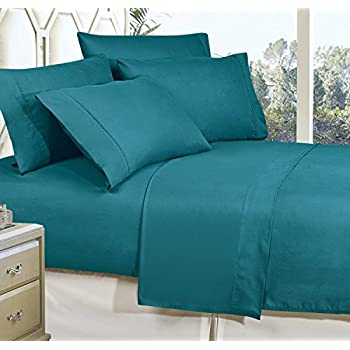 Celine Linen Best, Softest, Coziest Bed Sheets Ever! 1800 Thread Count Egyptian Quality Wrinkle-Resistant 4-Piece Sheet Set with Deep Pockets 100% HypoAllergenic, Queen Turqouise