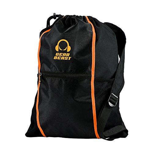 Drawstring Bag Backpack, Gear Beast Sport Sackpack Wet / Dry Storage Tablet Pocket for Gym, Pool, Training, Travel Lightweight - Boxing Sales Day Online Australia
