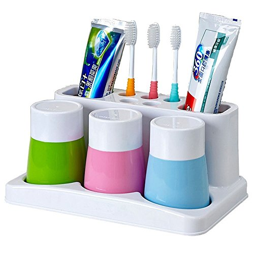 Enjoypro toothbrush toothpaste rinse cup holder bathroom import it all - Keep toothpaste kitchen ...