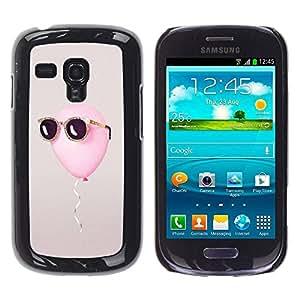TopCaseStore / la caja del caucho duro de la cubierta de protección de la piel - Summer Sun Cool Grey - Samsung Galaxy S3 MINI NOT REGULAR! I8190 I8190N