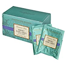 Fortnum & Mason British Tea, Smoky Earl Grey, 25 Count Teabags (1 Pack)