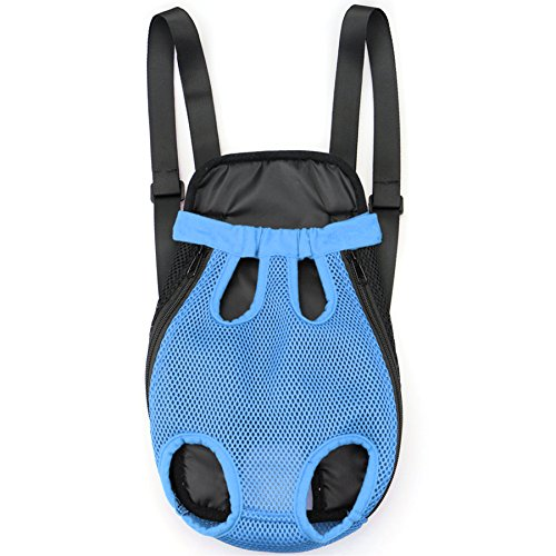 Alfie Pet by Petoga Couture - Alex Pet Backpack or Front Carrier with Adjustable Strap - Color: Blue, Size: Small (Alex Dog Carrier)