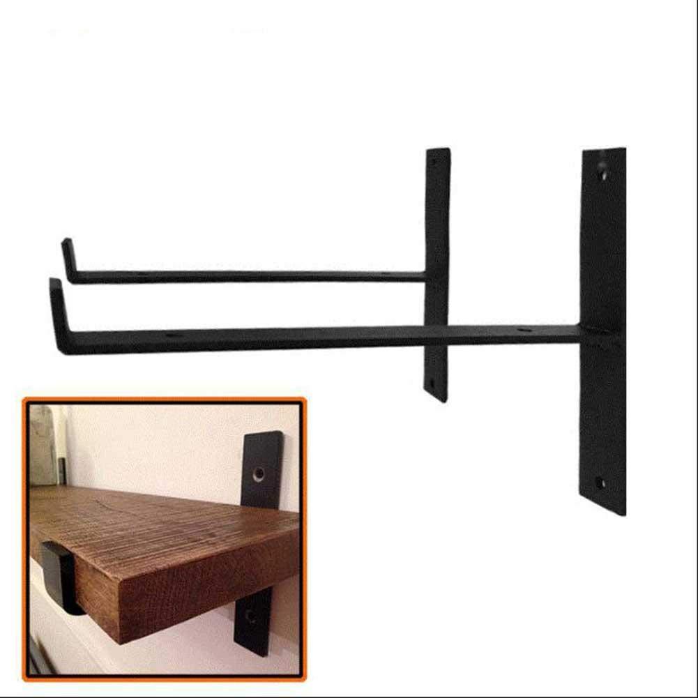 a 11 * 25cm Escuadras de fijaci/ón para Muebles Colgantes Color Negro en Forma de L Urben Life 2 Unidades