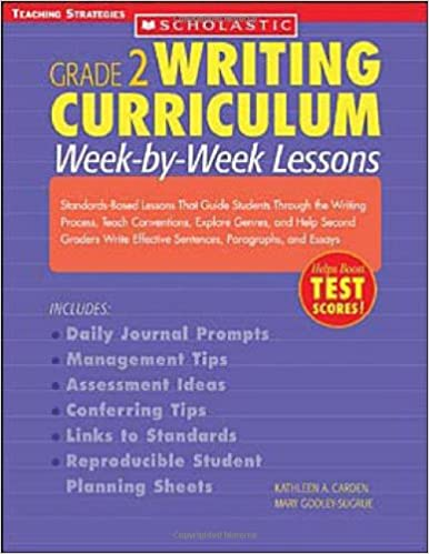 Writing Curriculum: Week-By-Week Lessons: Grade 2: Standards