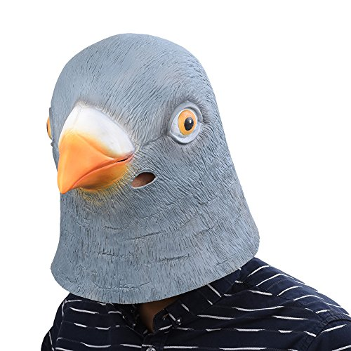 Pigeon Mask (PARTY STORY Pigeon Latex Head Mask Rubber Animal Head Mask Halloween Novelty Costume Masks)