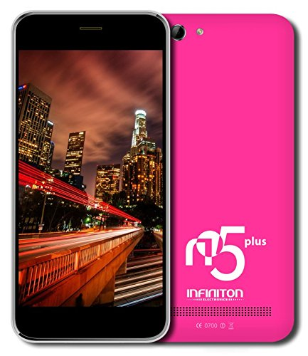 Infiniton-N5-Plus-Smartphone-de-5-WiFi-Bluetooth-Quad-Core-13-GHz-Dual-SIM-16-GB-Android-44-KitKat-color-rosa
