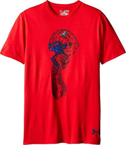 Under Armour Boys' Alter Ego Spider-Man Helmet T- - Under Armour Shirts Spiderman
