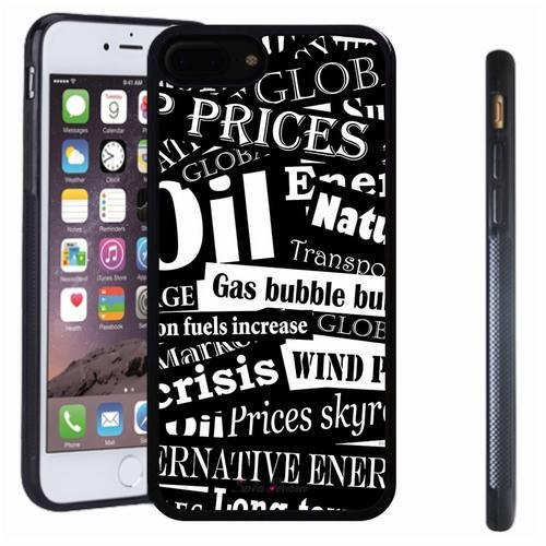 iphone 7 8 Plus case, SoloShow(R) Slim Shockproof TPU Soft Case Rubber Silicone for Apple iphone 7 8 Plus [Black]