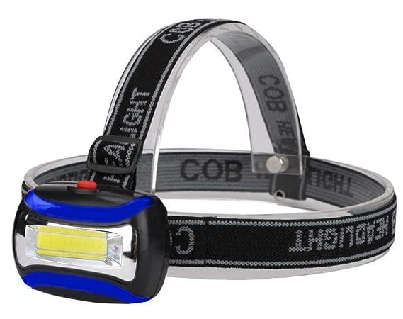 Stirnlampe 3W Neutral-Weiß COB-LED Blinken Modus Energiesparen Regulierbar  5588