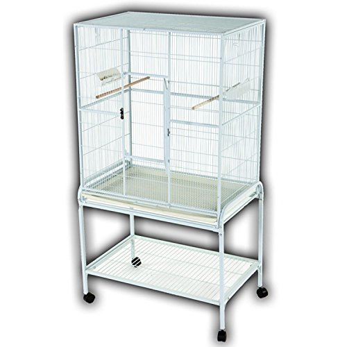 A&E CAGE CO 32-Inch by 21-Inch Flight Cage and Stand, Platinum by A&E Cage Co.