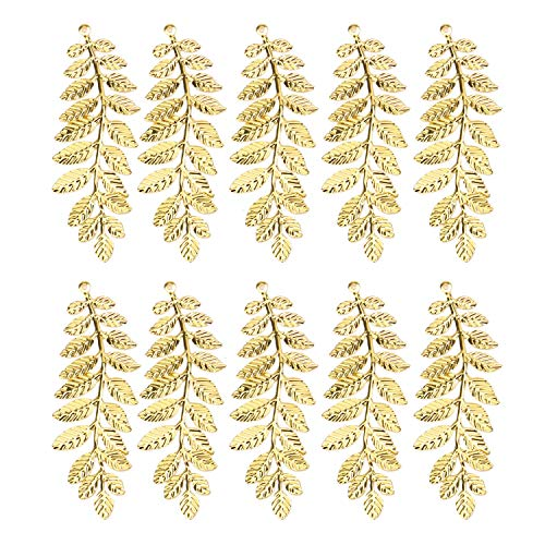 JETEHO 30 pcs Leaf Charms Vintage Leaf Branch Charms for DIY Headband Brooch Eardrop Necklaces Bracelets Wedding Cloth and More
