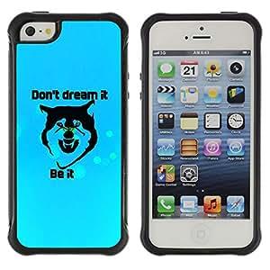 Be-Star único patrón Impacto Shock - Absorción y Anti-Arañazos Funda Carcasa Case Bumper Para Apple iPhone 5 / iPhone 5S ( Don'T Dream It )