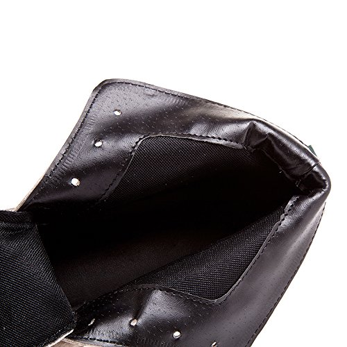 Style Kaki Roman Chunky Jamron Heel Cuir Femmes Mode Nubuck Cheville Brogue Doux Bottes Tapx4q