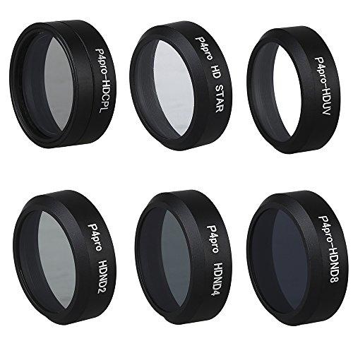 Camera Filter Lens ND2+ND4+CPL/Circular Polarize+6X Star for DJI Phantom 4 Pro RC Drone - Polarizes