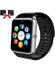 Smartwatch with SIM Card Slot Camera Music Play Sports Smart Watch Phone with Pedometer Sleep Monitor Compatible Iphones Android Phones for Women Men Kids